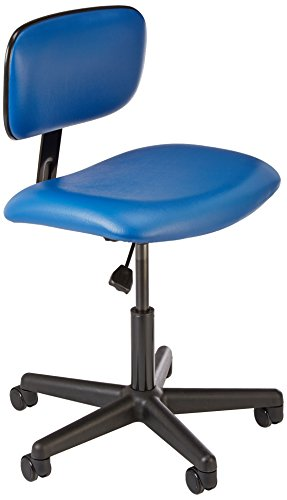 Bevco 4000AVU-3850S/5 Economical Ergonomic Standard Chair with Casters, Reinforced Plastic Base, 17-1/2