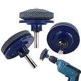 3 Pack Lawn Mower Blade Sharpener,Lawn Mower Sharpener for Power Drill Hand Drill