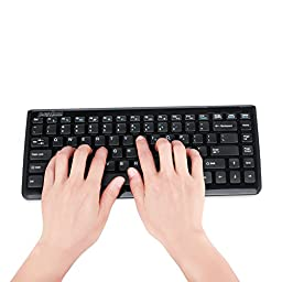 Perixx PERIDUO-707B PLUS, Wireless Mini Keyboard and Mouse Combo - Piano Black - 12.60\