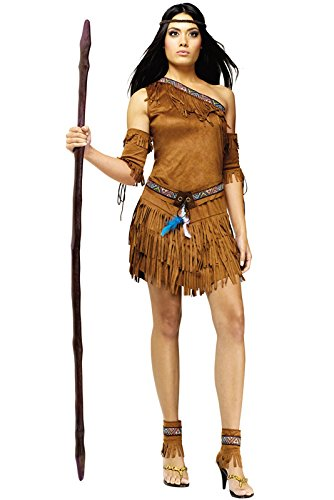 Pow Wow Man Indian Costumes (Pow Wow! Costume - Medium/Large - Dress Size 10-14)
