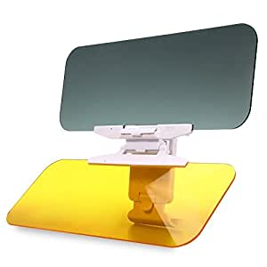 Marrywindix 2 in 1 Car Transparent Anti-glare Glass Car Sun Visor for Day & Night Driving