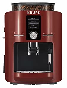 KRUPS EA8255001 Espresseria Fully Automatic Espresso Machine with Built-in Conical Burr Grinder, Red