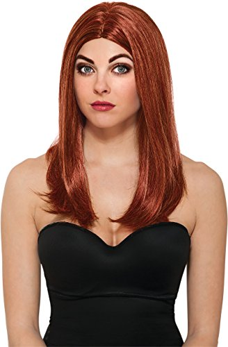 Marvel Costumes Women (Rubie's Costume Women's Marvel Universe Captain America Soldier Black Widow Wig, Multicolor, One Size)