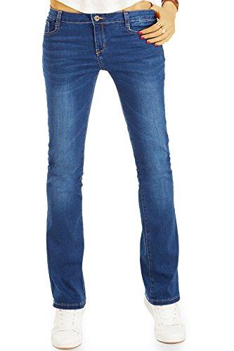 Bestyledberlin Vaqueros Pantalones Azul Mujer para Cut Boot a7arPq