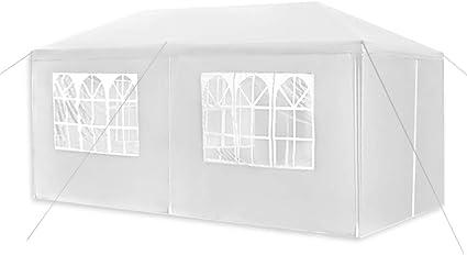 3x6m Festzelt PE Vereinszelt Weiß Pavillon Partyzelt Gartenzelt Wasserdicht