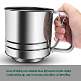 NPYPQ Stainless Steel Flour Sifter Large Baking