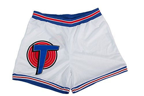 Space Jam Costume Ideas (Space Jam Tune Squad White Basketball Shorts (Adult)