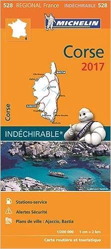 Carte Michelin Corse.Carte Regionale 528 Corse 2017 Regional Map Corsica