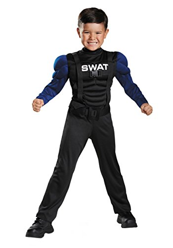 Toddler The Cop Costumes (Swat Toddler Muscle Costume, Medium/3T-4T)