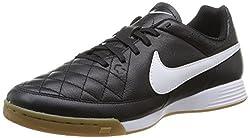 New Nike Men's Tiempo Genio Leather Ic Soccer Shoes Blackwhite 11.5