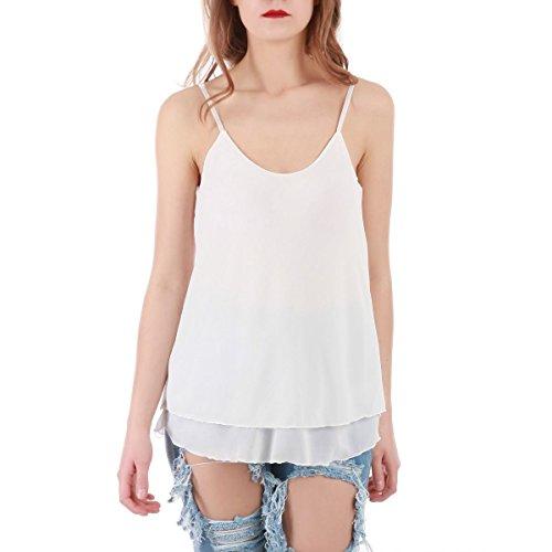 La Modeuse - Camiseta sin mangas - para mujer blanco