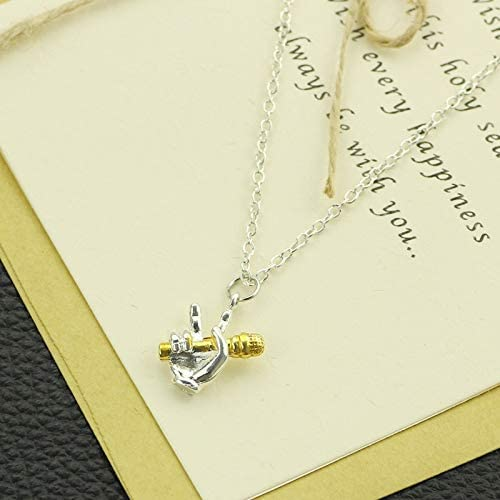 Mens necklace The Good Voice Microphone Necklaces Hip Hop Silver Gold Color Pendant Necklaces For Women Men Fashion Jewelry MusicianS Collar