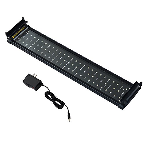 Honpal LED Aquarium Light with Extendable Brackets, White and Blue LEDs,Fish Tank Light For Fresh water and Salt Water