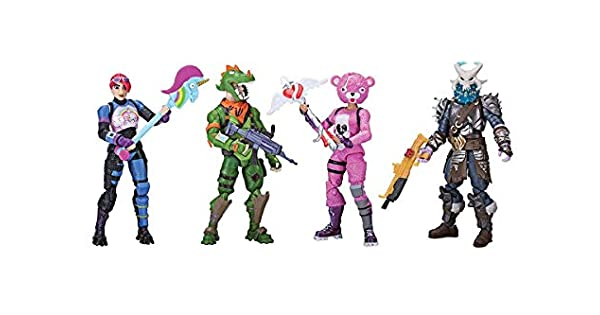 Amazon.com: Paquete de 4 figuras Fortnite Squad Mode (8 años ...