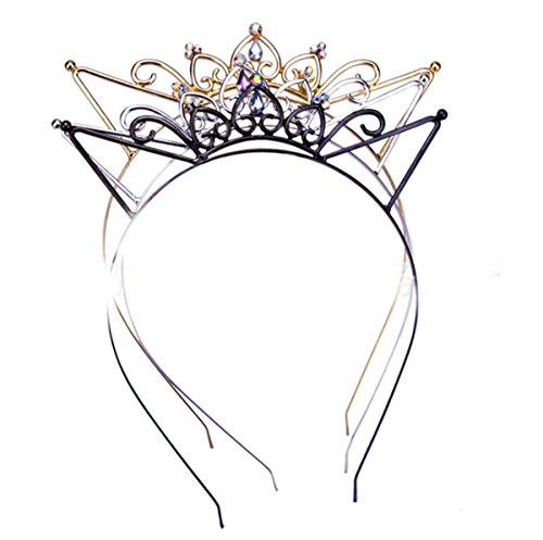 Xinqueen Crystal Rhinestone Toddler Headbands Black Swan Hairband Princess Crown Headband Tiaras Crowns Headpiece For Kids Girls(Random Color) -
