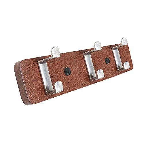 SUNSHINE Hook Hanger Wooden Wall Hook Up Bedroom Coat Rack Z-Type 2-Ply Zinc Alloy Hook, (3/4/5/6 Hook Optional) ( Color : 2# , Size : 4 hooks )