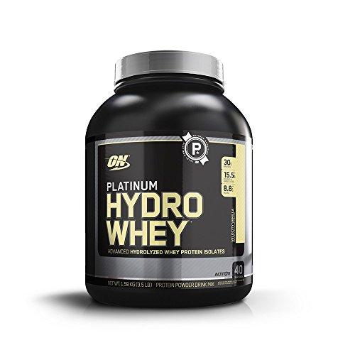 Optimum Nutrition Platinum Hydrowhey Protein Powder, 100% Hydrolyzed Whey Protein Powder, Flavor: Velocity Vanilla, 3.5 Pounds