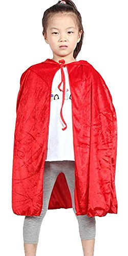 Bingo Halloween Costume (Urban CoCo Kids Hooded Cloak Cape Role Play Costumes (red))
