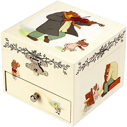 Caja de música para joyas / joyero musical de madera con figuras giratorias Ernest y Célestine (Ref: 20-016) - Serenata de Schubert: Amazon.es: Hogar