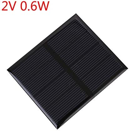 Z.L.FFLZ Mini Solar-Panel Tragbare Mini-DIY 2V 50mA Solar-Panel-Modul Solar Power Panel for Heim Im Freien Handy-Ladegerät (Color : 2V 0.6W, Size : Schwarz)