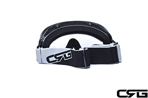 CRG Motocross ATV Dirt Bike Off Road Racing Goggles Adult T815-37 (Clear) by CRG Sports (Image #3)