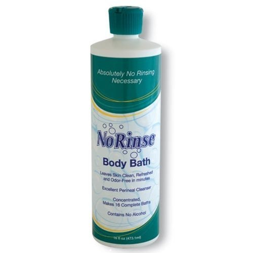(No-Rinse Body Bath, 16 fl oz - Leaves Skin Clean, Refreshed and Odor-Free (Pack of 12) - Makes 16 Complete Baths)