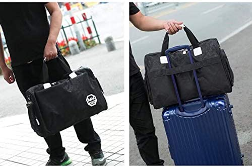 Black Large Size: 492133cm Travel Duffel Bag for Men and Wome New Korean Version of Lightweight Waterproof Mobile Travel Bag Female Short-Distance Large-Capacity Luggage Bag ZHICHUANG Fitness Bag