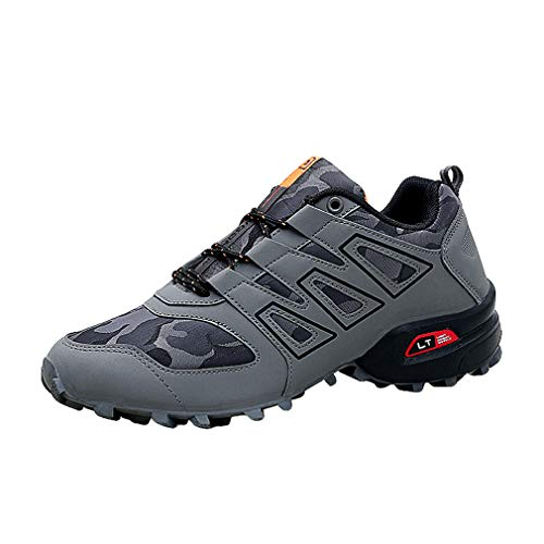 Outdoor Fonctionnement Randonnée De Sneakers Low Hommes Lacets Confortable Sport top Gris Course À Pour Escalade Chic Chaussures PgOq6g