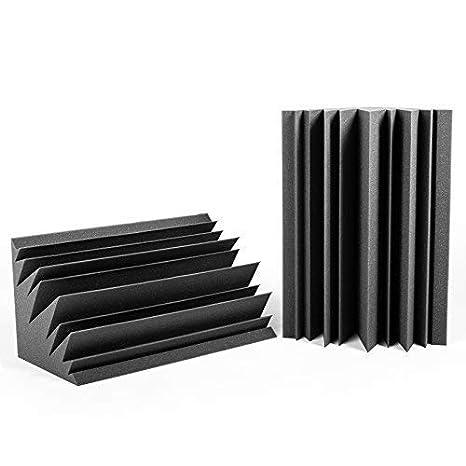 Trampa de Graves Studio Pro. Set Bass Trap de 2 piezas de 60x30x30 cm. Color gris antracita. Espuma acústica de alta absorción para bajas frecuencias.