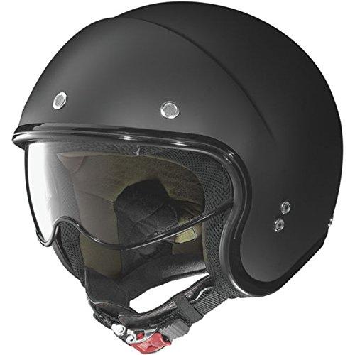 Nolan Unisex Adult N21 Durango Flat Black Open Face Helmet - Nolan Motorcycle Helmet Modular