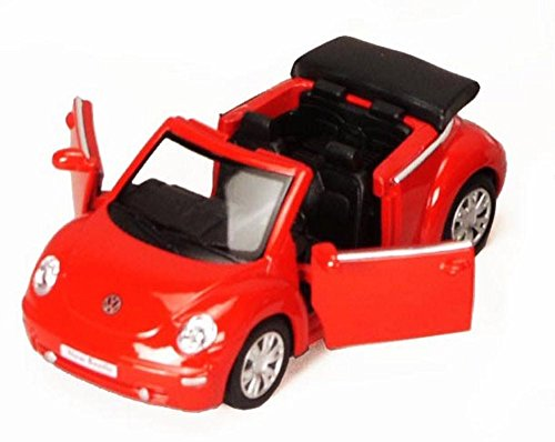 2003 Volkswagen Beetle Convertible, Red - Kinsmart 5073D - 1/32 Scale Diecast Model Replica (Brand New, but NO BOX)