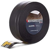 HOLZBRINK Rodapiés flexible autoadhesivo Negro Rodapiés flexible 50x20