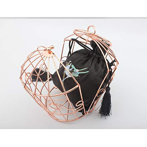 Personalidad Gancho Pasarela Noche Monedero Flor Metal Nupcial Graduación Señoras Bolso Brown Bordado Boda Cjwloy Fiesta Jaula Las Regalo brown De Embrague Aro Mujeres 6O0wAqX