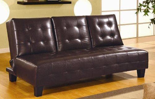 Coaster Sofa Bed-Dark Brown