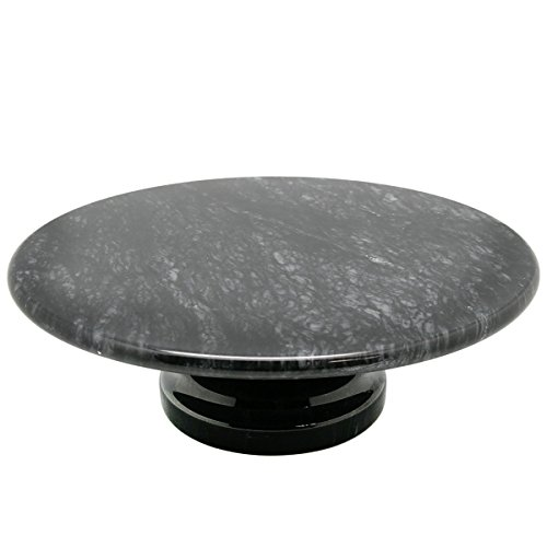 Pedestal Plate Serving (Creative Home 74755 Natural Stone Marble Diam. Cake Serving Plate on Pedestal, 10