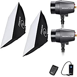Neewer® 360W(180W x2) 5600K Photography Studio Flash Strobe Light Lighting Kit with (2)20x28\
