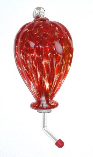 Master Craft Hand Blown Glass Hummingbird (Art Glass Hummingbird Feeder)
