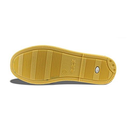 Fu Kung On Slip Cloth Shoes Black Mens Cotton yellow Maxu qPx0nE6Bt6