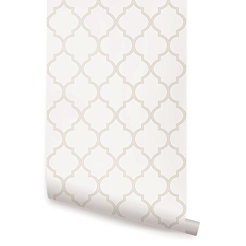 Moroccan Wallpaper - Beige - 2 ft x 4 ft - Single - by Simple Shapes