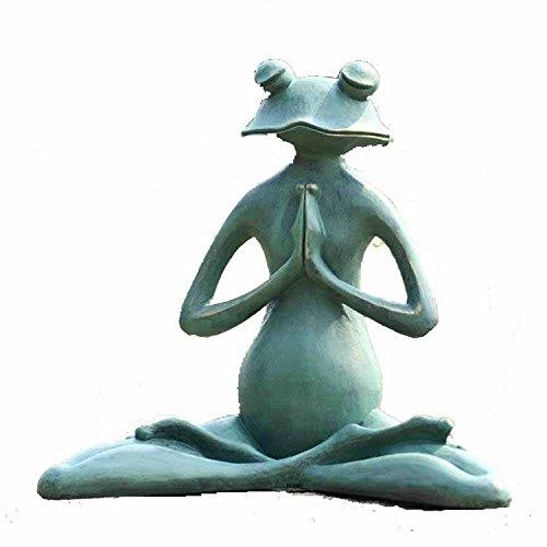 Premium Aluminum Verdigris Meditation Frog Garden Sculpture Statue Lawn Decoration Review