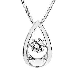 Amazon.com: SERAFINA Dancing White Sapphire Tear Drop