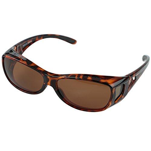 Sunglasses Over Prescription Glasses (Duco Unisex Wear Over Prescription Glasses Rx Glasses Polarized Sunglasses 8953)