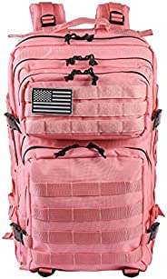 LHI Military Tactical Backpack 45L Army Molle Pack Large Hiking Daypack 3 Days Assault Rucksack for Men and Wo