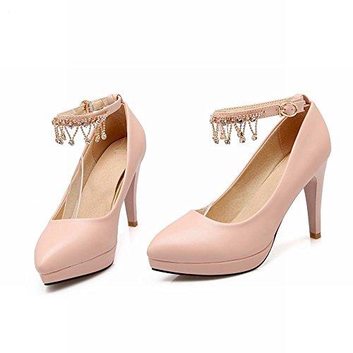 Mee Shoes Damen Ankle strap Strass Plateau high heels Pumps