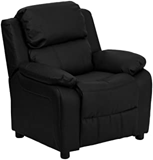 Flash Furniture Deluxe Padded Contemporary Black Leather Kids Recliner with Storage Arms  sc 1 st  Amazon.com : mini recliner chairs - islam-shia.org