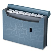 Pendaflex Expanding 13-Pocket Poly File w/Tabs, Blue (1163)