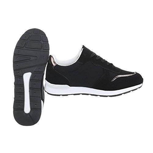 Ital Plano Low para Design BL110P Zapatillas Schwarz Zapatillas Zapatos mujer HP1O1Y