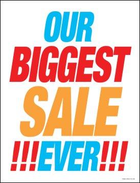 Amazon.com: Nuestra mayor venta nunca ventana venta signo ...