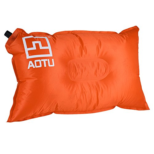 Tera Inflatable Air Bed Travel Pillow Cushion Pad for Camping Hiking Backpacking Outdoor Living Orange