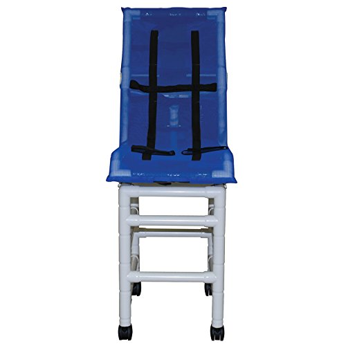 MJM International 191-LC-B-HB Reclining Bath Chair Large with Double Base and Head Bolster, 180 oz Capacity, 56
